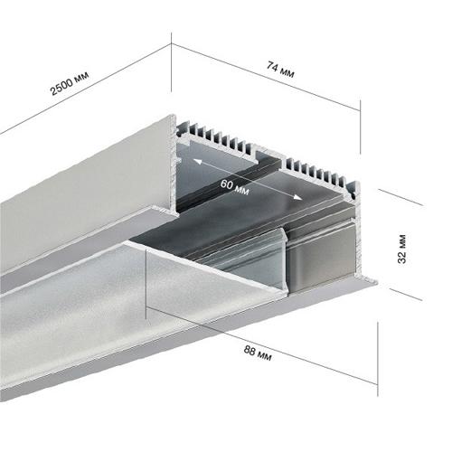 Встраиваемый светильник Novotech Aster 370035